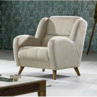 Danos Wingback Chair Upholstery: Beige