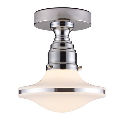 Heatherly 1-Light Semi-Flush Mount