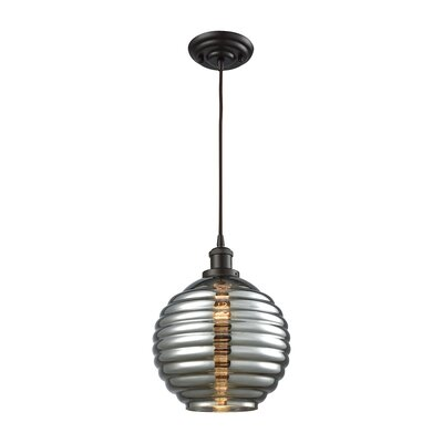 Bourbeau 1-Light Globe Pendant