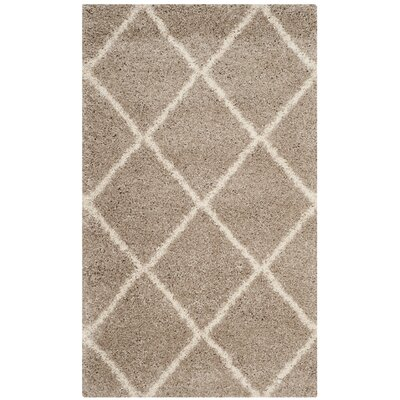 Hampstead Shag Brown/Beige Area Rug Rug Size: Rectangle 2 x 3