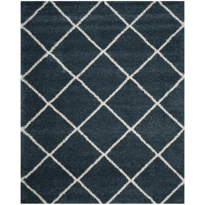 Humberto Shag Blue/Beige Area Rug Rug Size: Rectangle 9 x 12