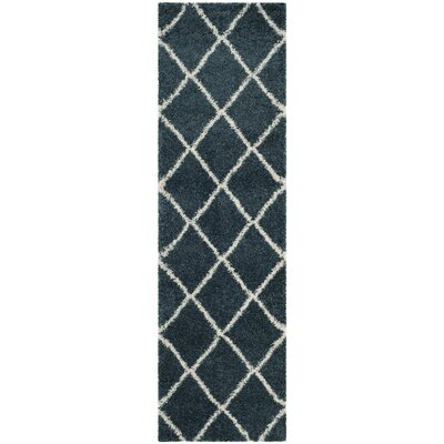 Humberto Shag Blue/Beige Area Rug Rug Size: Rectangle 23 x 39