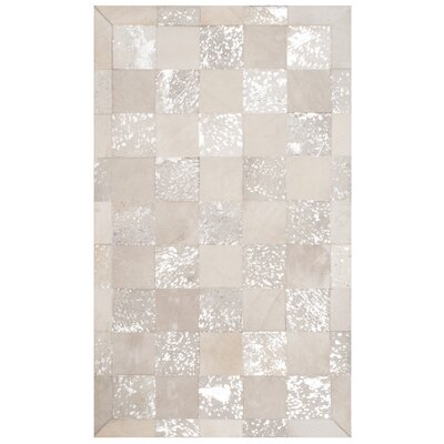 Bremner Hand-Woven Ivory Area Rug Rug Size: Rectangle 3 x 5