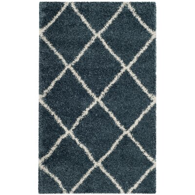 Humberto Shag Blue/Beige Area Rug Rug Size: Rectangle 2 x 3