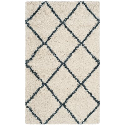 Hampstead Beige/Blue Area Rug Rug Size: Rectangle 2 x 3