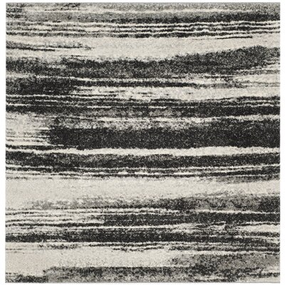 Aislinn Dark Grey / Light Grey Area Rug Rug Size: Square 4
