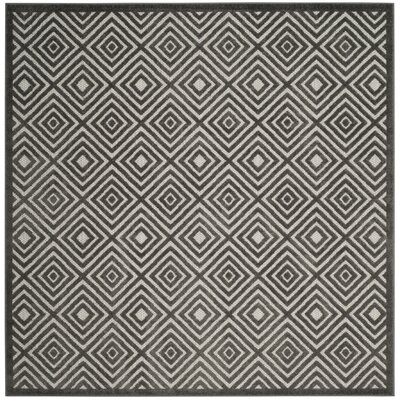 Woodford Gray Area Rug Rug Size: Square 67 x 67