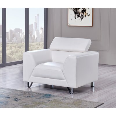 Runkle Armchair Upholstery: White