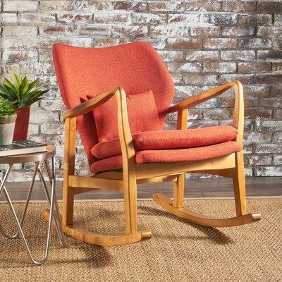 Saum Fabric Rocking Chair Fabric: Muted Orange