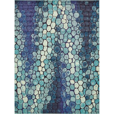 Sutton Place Blue Area Rug Rug Size: Round 6