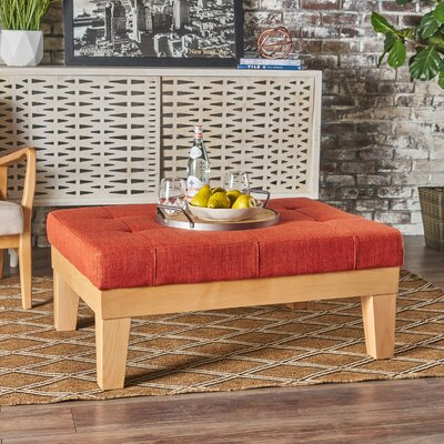 Welling Ottoman Upholstery: Orange