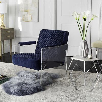 Brisbane Armchair Upholstery: Navy Blue