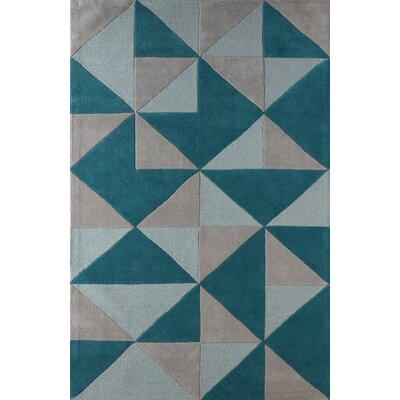 Lueras Hand-Tufted Lapis Area Rug Rug Size: Rectangle 4 x 6
