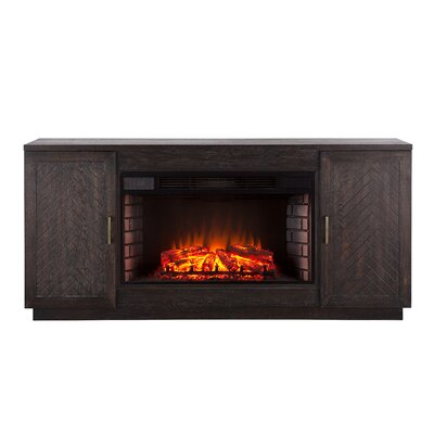 Scriber Widescreen 63 TV Stand with Fireplace