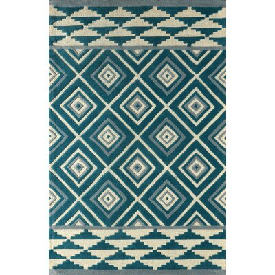 Luevano Hand-Tufted Lapis Area Rug Rug Size: Rectangle 4 x 6