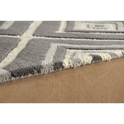 Luevano Hand-Tufted Steel Area Rug Rug Size: Rectangle 6 x 9
