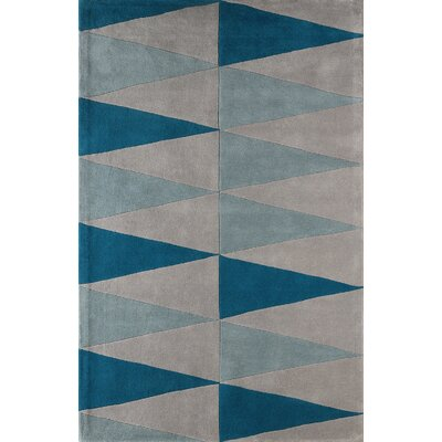Hisle Hand-Tufted Sky Area Rug Rug Size: Rectangle 6 x 9