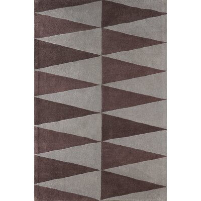 Hisle Hand-Tufted Brown/Gray Area Rug Rug Size: Rectangle 4 x 6