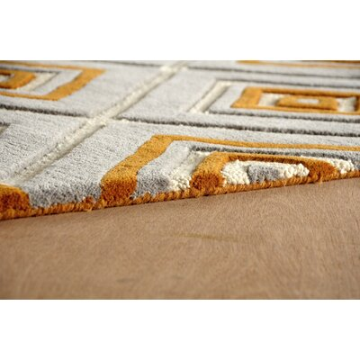 Luevano Hand-Tufted Sorrel Ivory/Gray Area Rug Rug Size: Rectangle 8 x 10