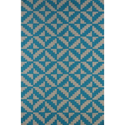 Hisey Hand-Tufted Teal Area Rug Rug Size: Rectangle 4 x 6