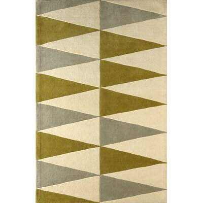 Hisle Hand-Tufted Ivory/Pear Area Rug Rug Size: Rectangle 6 x 9