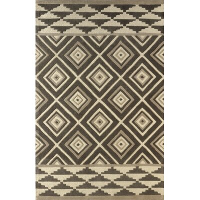 Luevano Hand-Tufted Soot/Brown Area Rug Rug Size: Rectangle 4 x 6