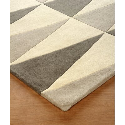 Hisle Hand-Tufted Soot/Ivory Area Rug Rug Size: Rectangle 6 x 9