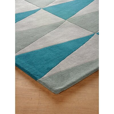Hisle Hand-Tufted Lapis Area Rug Rug Size: Rectangle 6 x 9