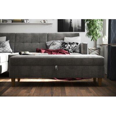 Stigall Storage Ottoman Upholstery: Grey