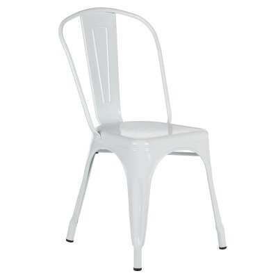 Riker Metal Dining Chair Color: White