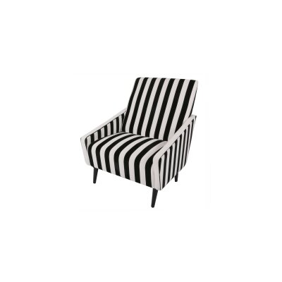 Boivin Lounge Chair Upholstery: Black / White