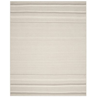 Butters Hand-Woven Grey/Ivory Area Rug Rug Size: Rectangle 8 x 10