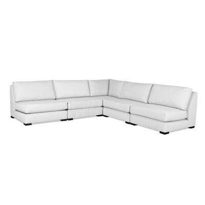 Seay Simple Modular Sectional Upholstery: White