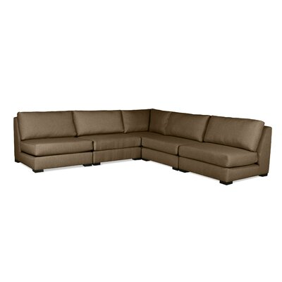 Seay Simple Modular Sectional Upholstery: Brown