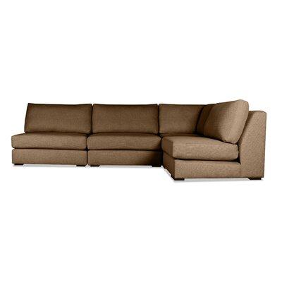 Glaude Modular Sectional Upholstery: Brown