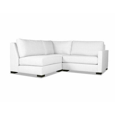 Secrest Sectional Upholstery: White, Orientation: Right Hand Facing