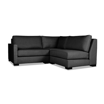 Secrest Sectional Upholstery: Charcoal, Orientation: Left Hand Facing