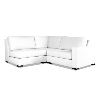 Brose Sectional Upholstery: White, Orientation: Right Hand Facing