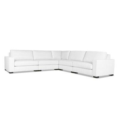 Brose Modern Modular Sectional Upholstery: White