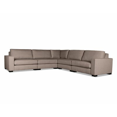 Brose Modern Modular Sectional Upholstery: Brown