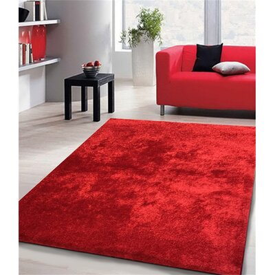 William Street Hand-Knotted Red Area Rug