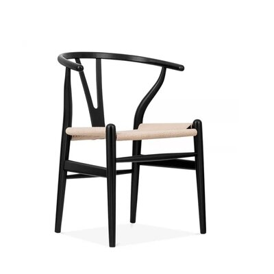 Housley Woodcord Solid Wood Dining Chair Finish: Black
