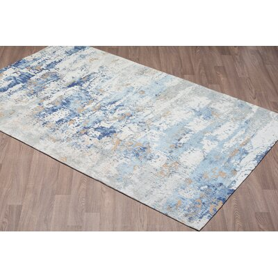 Loni Chenille Cotton Blue Area Rug Rug Size: Rectangle 8 x 10