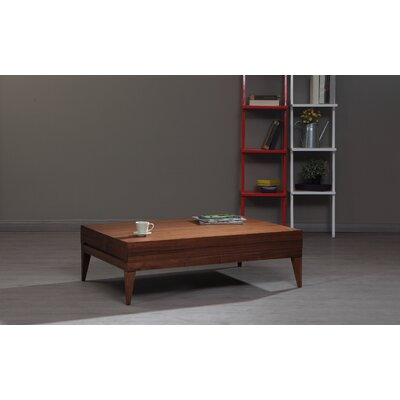 Pilning Modern Coffee Table Color: Walnut