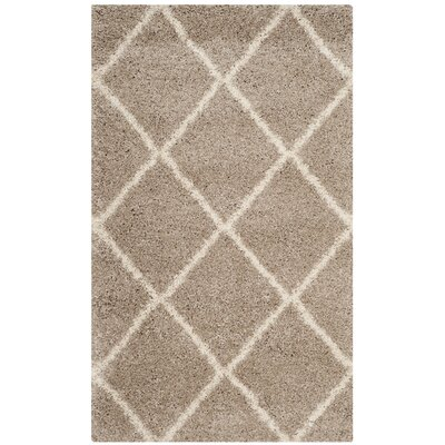 Hampstead Shag Brown/Beige Area Rug Rug Size: Rectangle 3 x 5