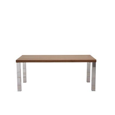 Durkee Dining Table Top Finish: Walnut / Chrome, Size: 28 H x 63 L x 35 W