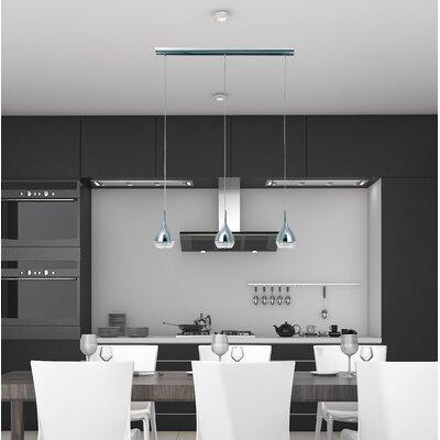 Thibodeaux 3-Light Kitchen Island Pendant Shade Color: Silver