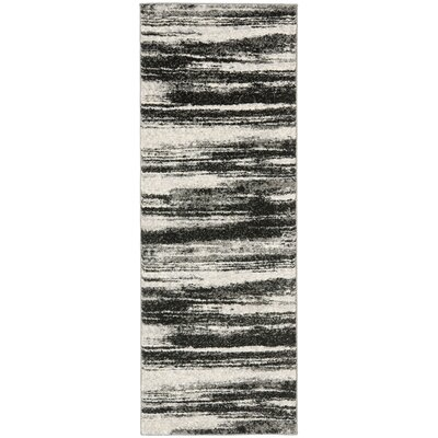 Aislinn Dark Grey / Light Grey Area Rug Rug Size: Runner 26 x 12