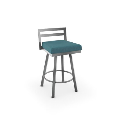 Penton 26.75 Swivel Bar Stool Upholstery: Bright Blue Polyester