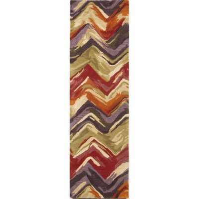 Terrill Hand Tufted Wool Red/Purple Area Rug Rug Size: Runner 23 x 8